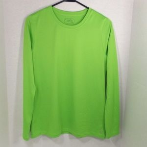 be inspired Neon Green Ultra Soft Thin Knit Top S